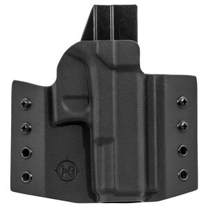 C&G Holsters Covert OWB Holster for GLOCK 19/23/32 Right Hand Draw Kydex Black