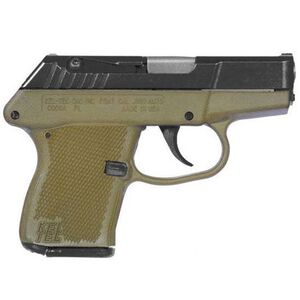 "Kel-Tec P-3AT Semi Automatic Pistol .380 Auto 2.75"" Barrel 6 Rounds Blued Slide Green Polymer Grip"