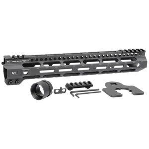 "Midwest Industries AR-15 Combat Lightweight 12.625"" One Piece Free Float M-LOK Hand Guard 6061 Aluminum Hard Coat Anodized Matte Black"