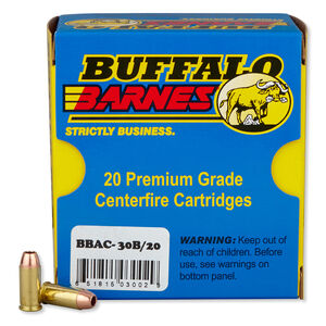 Buffalo Bore .32 ACP +P Ammunition 20 Rounds Barnes Lead Free TAC-XP 60 Grains 30B/20