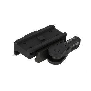 American Defense Mfg. Low Profile Base Mount Fits Aimpoint T1 Micro Compatible Optics to Picatinny Rail With Quick Release Titanium Lever Black Finish AD-T1-L