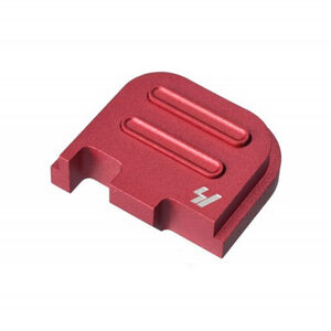 Strike Industries GLOCK Slide Cover Plate Fits GLOCK 43 Only V2 Button Aluminum Red SI-GSP-G43-V2-RED