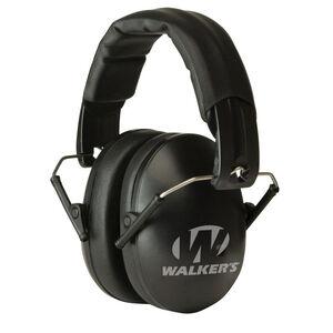 Walker's Game Ear Youth and Women Folding Earmuffs -27dB NRR Passive Protection Padded Headband Soft PVC Earpads Matte Black Finish GWP-YWFM2