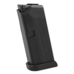 Jagemann 6 Round Magazine for GLOCK 43 9mm Luger Black Polymer