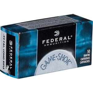 Federal Game-Shok .22 LR Ammunition 50 Rounds #12 Lead Shot 1000fps