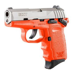 "SCCY CPX-1  9mm with Safety 3.10"" Barre, 10 Rounds, Stainless Steel/Orange"