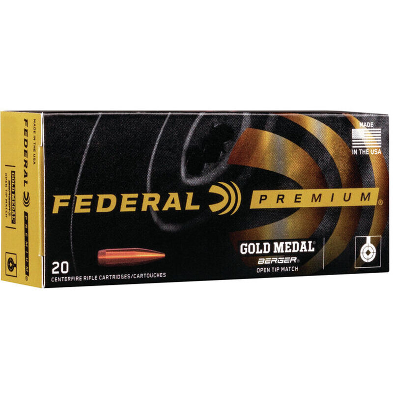 Federal Premium Gold Medal 300 Norma Magnum Ammunition 20 Rounds 215 Grain Berger Hybrid Projectile 3000fps