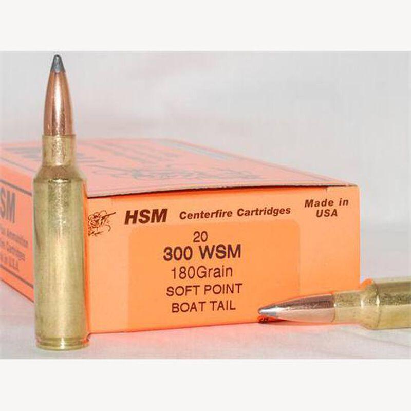 HSM  300 WSM Ammunition 20 Rounds Sierra Gameking SBT 180 Grains  HSM-300WSM-41-N