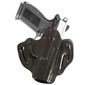 DeSantis Speed Scabbard Belt Holster 1911 Officer's Right Hand Leather Black 002BA19Z0