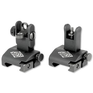 YHM AR-15 Quick Deploy Same Plane Sight System Black