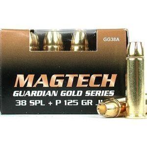 Magtech Guardian Gold .38 Special +P Ammunition 20 Rounds JHP 125 Grains GG38A