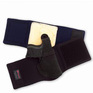 "Galco Ankle Lite S&W J Frame 2"" Ankle Holster Right Hand Neoprene Band Black"