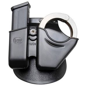 Fobus Handcuff and Universal 9/40 Magazine Pouch Roto Paddle Holster Kydex Black