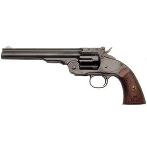 "Cimarron Model No 3 Schofield Single Action Revolver .45 Long Colt 7"" Barrel 6 Rounds Fixed Sights Walnut Grips Blued Finish CA850"