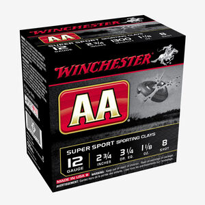 "Winchester AA Sporting Clays Value Pack 12 Gauge Ammunition 100 Rounds 2 3/4"" #8 1 1/8 Ounce AASC128VP"