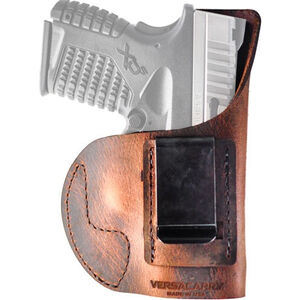 Versacarry Element IWB Holster Size 1 Most Full Sized and Compact Pistols Right Hand Leather Distressed Brown