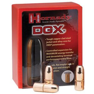 """Hornady .505 Caliber .505"""" Diameter 525 Grain DGX Steel Jacketed Soft Flat Point Bullet 50 Count 5050"""