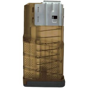 Lancer SR-25/LR-308 Magazine .308 Win/7.62 NATO 20 Rounds Polymer/Steel Translucent Dark Earth