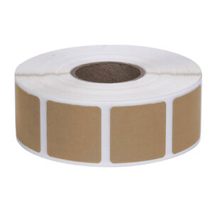 """Action Target Square Target Pasters Roll of 1000 7/8"""" Brown"""
