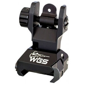 Williams AR-15 Tactical Folding Rear Sight Picatinny Rail Compatible Aluminum Matte Black