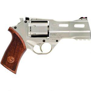 "Chiappa White Rhino 40SAR Revolver 357 Mag 4"" Barrel 6 Rounds Wood Grip Nickel Plated Finish"