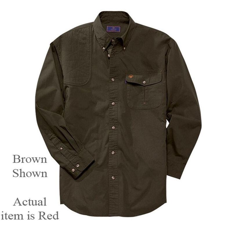 Beretta TM Shooting Shirt Long Sleeve Cotton Hunter Brown 3X-Large
