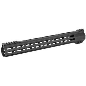 "Sharps Bros. AR-15 15"" Ultra Lite M-LOK Free Float Hand Guard 6061-T6 Aluminum Hard Coat Anodized Matte Black Finish"