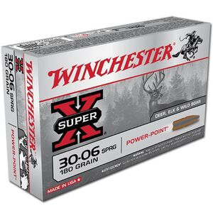 Winchester Super X .30-06 Springfield Ammunition 20 Rounds JSP 180 Grains X30064