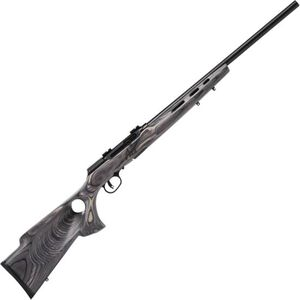 "Savage Model A17 Target Semi Auto Rimfire Rifle .17 HMR 22"" Heavy Barrel 10 Rounds Grey Laminate Thumbhole Stock Matte Black"