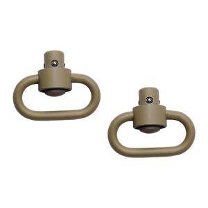 GrovTec Heavy Duty Push Button Swivels Stainless Steel Cerakote Desert Sand GTSW252