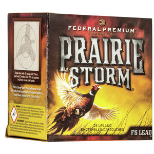 "Federal Prairie Storm 28 Gauge Ammunition 2-3/4"" #6 FS Lead Shot 1 Ounce 1300 fps"