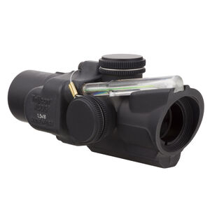 Trijicon 1.5x16S Compact ACOG Scope Low Height, Dual Illuminated Green Ring & 2 MOA Center Dot Reticle