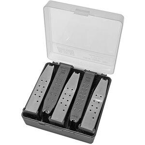 MTM Case-Gard Pistol Magazine Storage Case 5 Magazines Polymer Clear-Smoke and Black