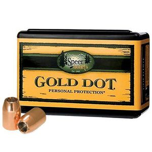 "Speer Gold Dot Personal Protection Handgun Bullets .38 Caliber .357"" Diameter 110 Grain Gold Dot Hollow Point Projectile 100 Count Per Box"