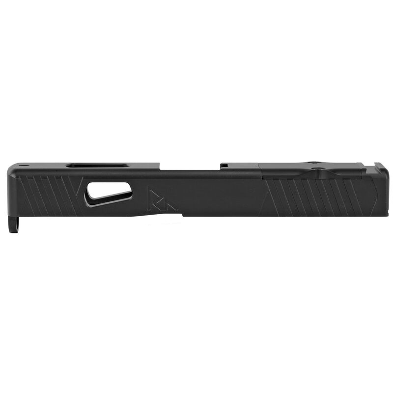 Rival Arms Slide for GLOCK 19 Gen 3 Models RMR Ready Optic Cut CNC Machined 17-4PH Stainless Steel Billet Matte Black Finish