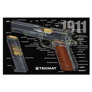 """TekMat Armorer's Bench Mat Neoprene/Cloth 11""""x17"""" 1911 Cutaway 17-1911-CA"""