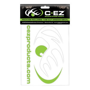 """C-EZ Products 6"""" Reflective Die Cut Vinyl Decal Lime 1 Decal"""