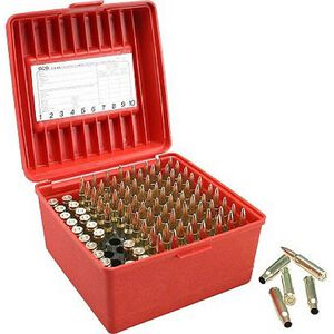 Magnum Rifle Ammo Box Holds 100 Rounds Red