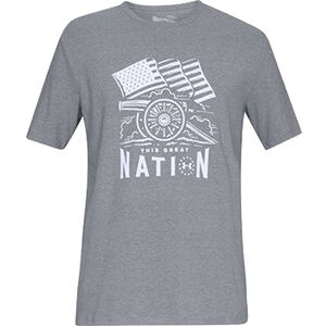 Under Armour Freedom Cannon Men's Short Sleeve T-Shirt Charged Cotton Polyester and Elastane Blend