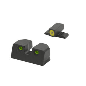 Meprolight Hyper-Bright Tritium Day and Night Sight Front Phosphorescent Yellow Ring/Rear Green for HK 45 / VP9 / SFP9 / P30