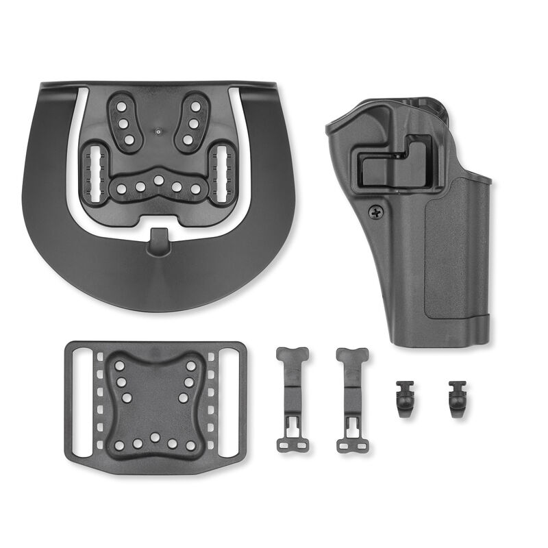 BLACKHAWK! SERPA CQC Concealment Holster with OWB Paddle/Belt Loop for CZ  75/75B/75, SP01/85/85B Right Hand Polymer Matte Black Finish