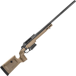 "Seekins Precision HAVAK Bravo 6.5mm PRC Bolt Action Rifle 24"" Barrel 20 MOA Rail FDE KRG Bravo Chassis Matte Armor-Blak Finish"