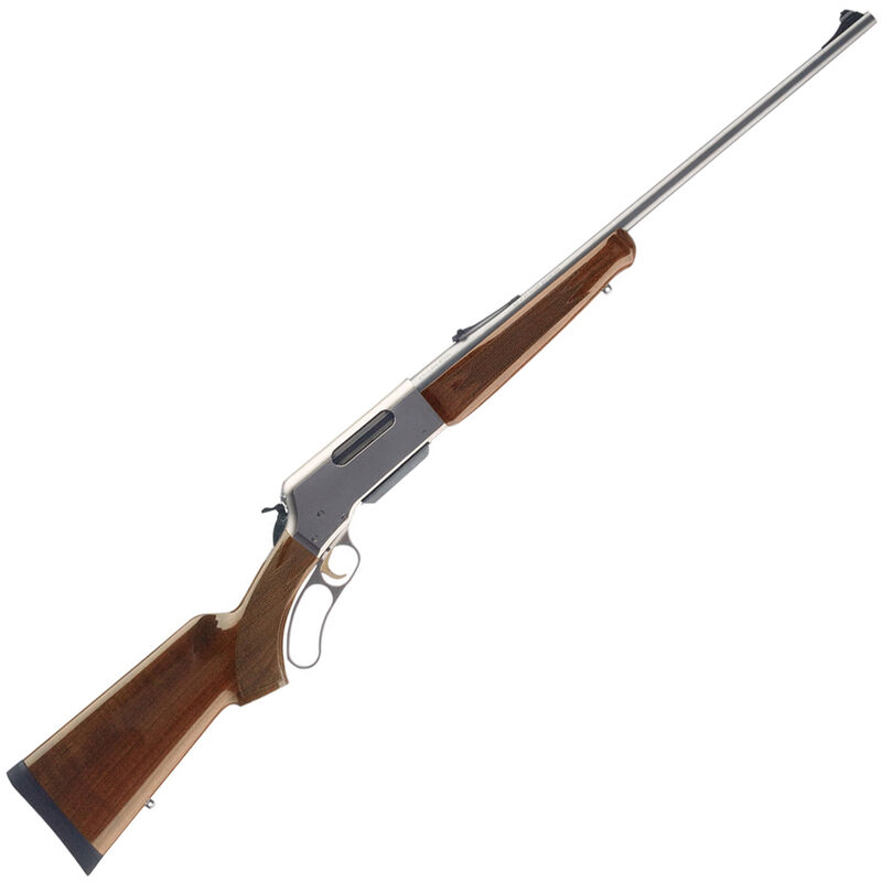 """Browning BLR Lightweight Stainless Lever Action Rifle .22-250 Rem 20"""" Barrel 4 Round Box Magazine Walnut Stock Nickel/Stainless Finish"""
