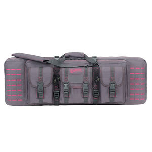 "Voodoo Tactical 36"" Padded Weapons Case Nylon Gray/Pink"