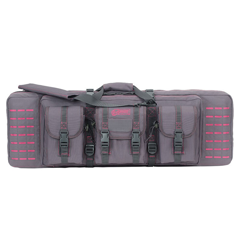 """Voodoo Tactical 36"""" Padded Weapons Case Nylon Gray/Pink"""