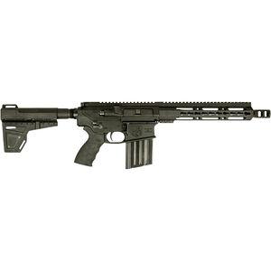 "Diamondback DB10 Semi Auto Pistol .308 Winchester 13"" Stainless Steel Fluted Barrel 20 Rounds 13"" M-LOK Free Float Hand Guard Rear Stabilizing Brace Matte Black"