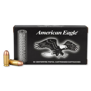 Federal American Eagle .45 ACP Subsonic Ammunition 50 Rounds 230 Grain 840 Feet Per Second Suppressor