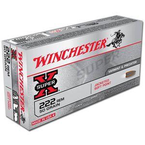 Winchester Super-X .222 Rem 50 Grain JSP 20 Round Box