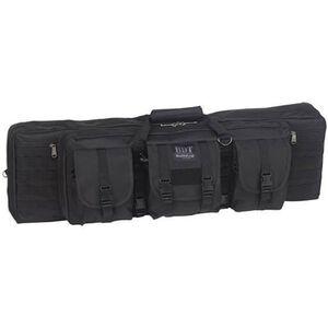"""Bulldog Double Tactical Rifle Case Polyester Canvas 37"""" Black"""