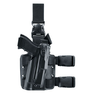Safariland 6305 ALS/SLS Tactical Holster for GLOCK 19, 23 with Tactical Light with Quick Release Strap, Right Hand, STX Tactical Black 6305-2832-131